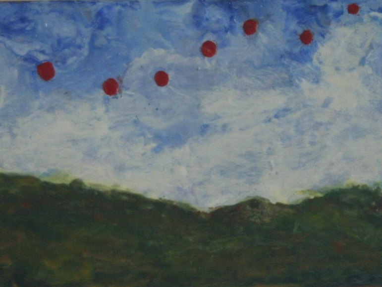 2003, encaustic on gesson board, Gifted