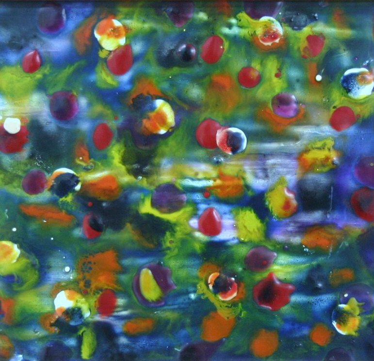 2010, encaustic on board, 300*220 Gifted